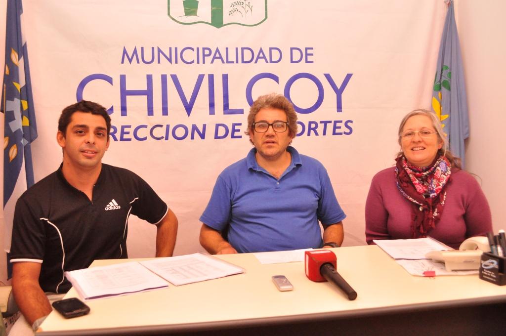 Emir Sosa, Oscar Fernández y Laura Coria