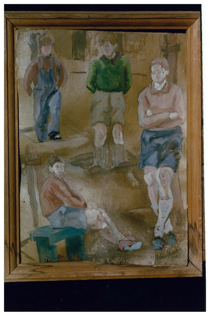 """""""Figuras"""", de Nro. 230. Mateo Scagliarino. Óleo. 34x45 cm."""