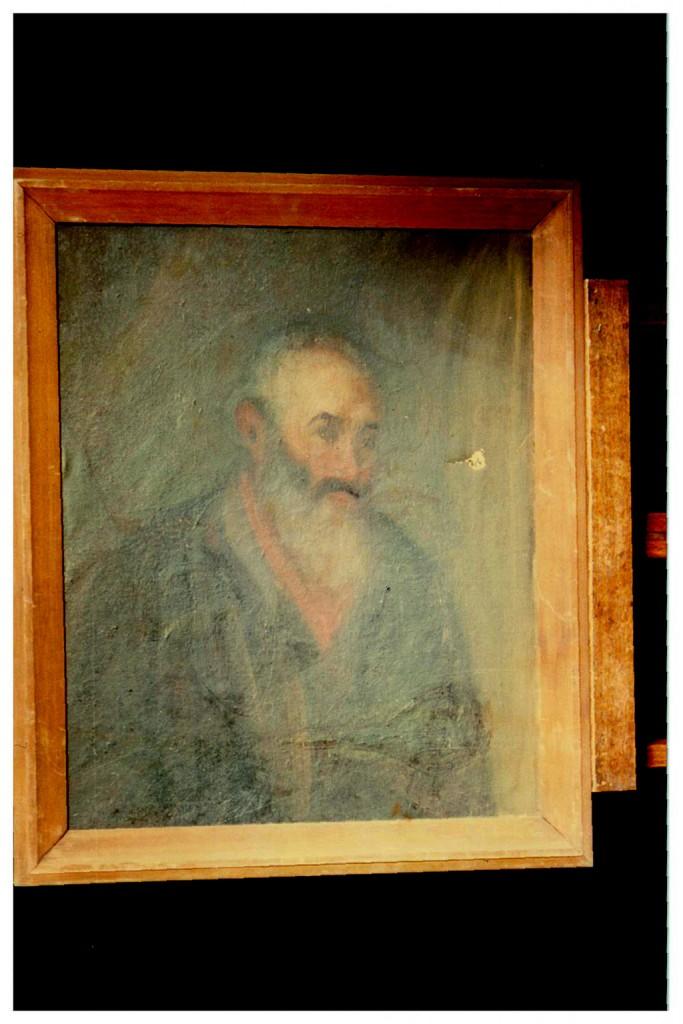 """""""Retrato de anciano"""", de V. Leban. Óleo sobre tela."""