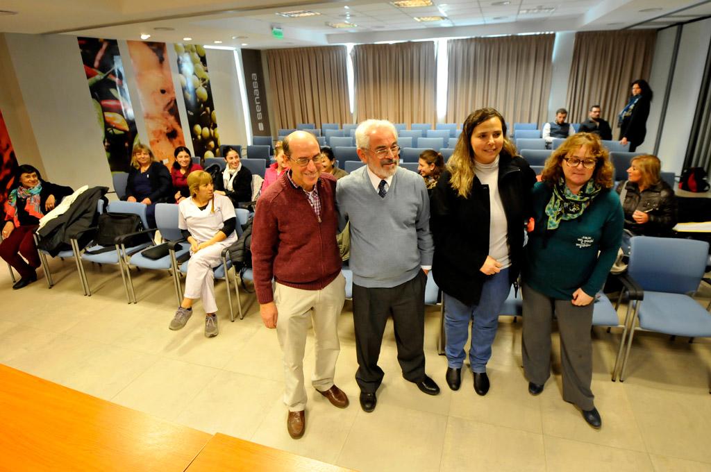 José Caprara acompañado de Gustavo Sager en el curso de lactancia