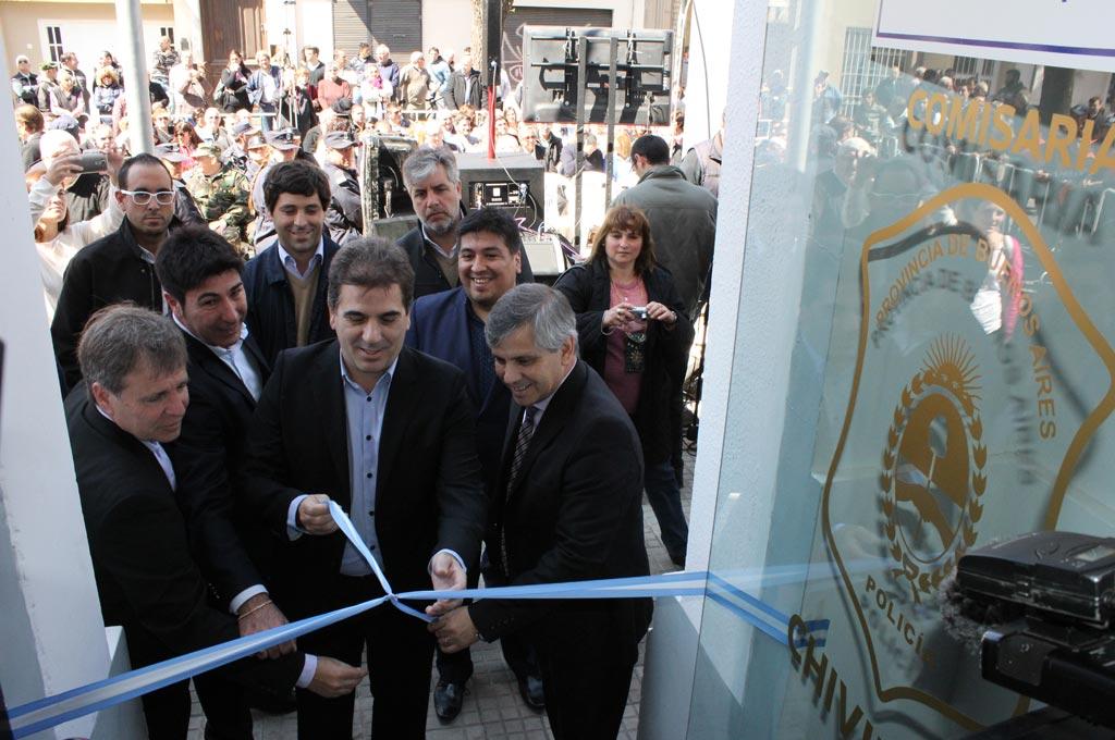 Britos y Ritondo inauguraron las instalaciones de la Comisaría Primera
