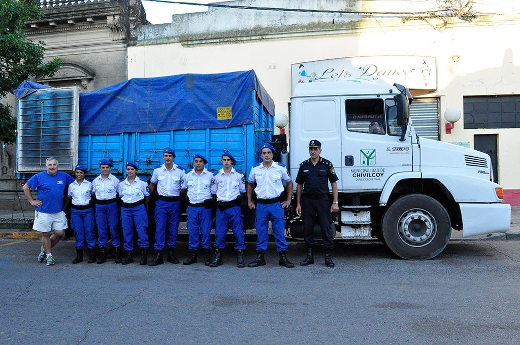 El cuerpo de Policía Local recibió donaciones para Pergamino